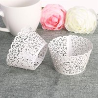 Wholesale fondant cakes cupcakes for sale - Group buy Lace Laser Cut DIY Baking Fondant Cupcake Wrapper Liner Baking Cup Hollow Paper Cake Cup Tool