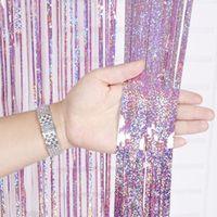 Wholesale foil fringe curtains for sale - Group buy Metallic Laser Foil Fringe Tinsel M Wedding Birthday Decor Curtain Tassel Garlands Backdrop Party Diy Decoration Supplies