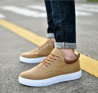 zapatos casuales para hombre coreano al por mayor-Versión coreana marca barata zapatos escotados ocasionales de los zapatos de la zapatilla de deporte de combinación para mujer para hombre Moda Casual zapatos de calidad superior