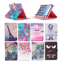 Wholesale cartoon inch tablet resale online - Cartoon Printed Universal inch Tablet Case for HP Pro Slate EE G1 Cases kickstand PU Leather Flip Cover Case