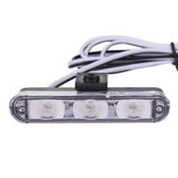 Wholesale grille flash for sale - Group buy 2x3 LED car network burst Grille Flash Light Strobe Flashing Warning Car Truck Light led Flashing Firemen Lights DC V zk30