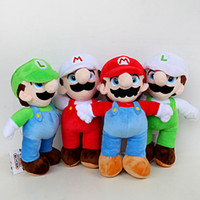 Wholesale 25cm Super Mario Bros plush toy Mario And Luigi Stuffed Animals Plush Toys Super Mario Plush Dolls Stuffed Toy KKA7077