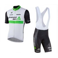 Wholesale cycling jersey bib shorts blue for sale - New Arrival DIMENSION DATA Cycling Jersey Bib Shorts suit summer quick dry breathable outdoor road bike Clothes racing bicycle wear Y021602