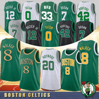 baloncesto boston al por mayor-NCAA 8 Kemba Walker Hombres Baloncesto universitario 0 Jayson Tatum 20 Gordon Hayward 7 Jaylen Brown 33 Jerseys de baloncesto Larry Bird Boston Celtics 2020 Jerseys nuevos