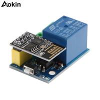 röle modülü arduino toptan satış-ESP8266 ESP-01S 5 V WiFi Röle Modülü Şeyler Akıllı Ev Uzaktan Kumanda Anahtarı Arduino için Telefon APP ESP01S Kablosuz WIFI Modülü