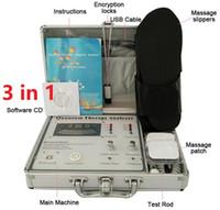 körperresonanz groihandel-Quantum Therapy Analyzer 2020 neuen 52 Berichte Multifunktionale Quantum Magnetic Resonance Gesundheits-Körper-Analyzer mit Slipper Pads Massage DHL