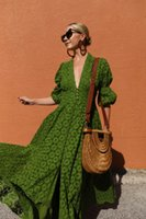 Wholesale long maternity casual dress for sale - Group buy Fashion Poet Long Sleeves Full Lace Party Dress Hunter Green Deep V Neck A line Women Casual Dress Vintage Girl Maxi Cocktail Dress