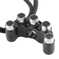 sap çapları toptan satış-CNC Alüminyum Gidon 7/8 İnç 22mm Çap Handlebar ile Motosiklet için / KAPAMA Otomatik Dönüş 5 Düğme Universal Anahtar ON