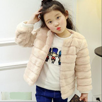 ingrosso giacche di pelliccia del neonato-Ragazza Boy Jacket 2019 Autunno Inverno Bambini Cappotti Bambino Faux Fur Bambini Caldi monopetto O-Collo Spessa Capispalla Morbida N350