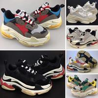gündelik ayakkabılar kız çocukları toptan satış-Balenciaga Triple-S Sneaker 2019 Çocuklar Lüks ayakkabı Üçlü-s Büyük Çocuklar Tasarımcı Sneakers Paris Üçlü S Çocuk Erkek Kız Eğitmenler için Rahat Ayakkabılar Koşu Boyutu 28-35