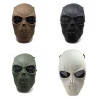 paintball masken skelett großhandel-Scary Masken Halloween Neue Armee Retrovollgesichtsmaske Schädel Skeleton Airsoft Paintball-Sammlung Movie Game Sicherheit 20js Schützen
