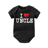 Wholesale baby romper i love resale online - Cute Funny I Love My Uncle Child One Piece Child Fun Present Infant Baby Babies Romper Christmas Family Toddler Jumpsuit Infant