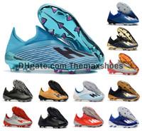 futbol oyunları toptan satış-2019 Sıcak X 19+ 19.1 FG Futbol Erkek Futbol İç Oyun Yönlendirme Paketi Karanlık Senaryo 19 + x Futbol Boots futbol Ayakkabı Kramponlar Boyut ABD 6,5-11
