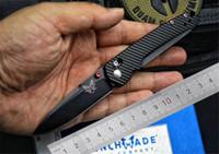 borboleta de bancada venda por atacado-Handle Benchmade BM485 AXIS Benchmade facas faca dobrável M390 Lâmina TC4 Titanium Outdoor Camping Mini faca borboleta EDC