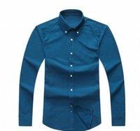 camisas de vestir oxford para hombre al por mayor-Los nuevos Mens del diseñador de manga larga ocasional de la camisa de los hombres Sólido S EE.UU. Marca RL camisas de polos de moda Oxford camisas de vestir sociales Pequeño caballo Camisas