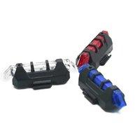 weiße fahrradsicherheit warnleuchte großhandel-BRELONG Tragbares wiederaufladbares USB-Fahrradheck-Fahrrad nach Warnung Sicherheitsrücklicht-LED, die Weiß / Rot / Blau hervorhebt