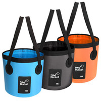 Wholesale container camping resale online - 6 Colors Fishing Bucket L Waterproof Storage Portable Folding Outdoor Bucket For Camping Fishing Hiking Durable Container Free DHL M238Y