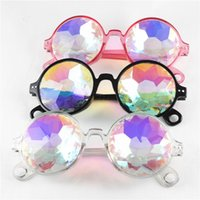 erkek çocuklar için serin bardaklar toptan satış-Çocuklar Kaleidoscope Güneş Retro Geometrik Gökkuşağı Mercek Sunglass Moda Şenlikli Parti Gözlük Erkek kız favori gözlük FFA3600-3 soğutmak