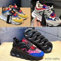 zapatillas deportivas al por mayor-2019 caliente Medusa Reacción en cadena marca Diseñador Zapatillas Deporte Moda correr al aire libre Zapatos Trainer Ligero Versace Sole
