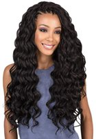 siyah kıvırcık saç toptan satış-Büyük indirim! 1 packs / lot 20 inç Derin Dalga Tığ Saç Uzantıları Kinky Kıvırcık Sentetik Okyanus Dalgası Örgü Saç Siyah / Beyaz Kadınlar Için
