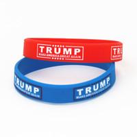 pulseiras de pulseira de borracha venda por atacado-TRUMP Fazer América Grande Novamente Carta Silicone Pulseira De Borracha Pulseira de Donald Trump Apoiadores Pulseiras Pulseiras MMA1909