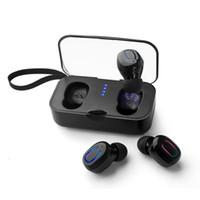 mini auriculares deportivos al por mayor-Ti8S T18S TWS Mini Wireless 5.0 Auriculares Bluetooth Llamadas binaurales Ambos lados Música Reproducir auriculares Deporte Ture Auriculares estéreo Auriculares intrauditivos