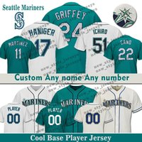 9038768cce0 Wholesale ken griffey jr jerseys resale online - 51 Ichiro Suzuki Custom  Seattle Men Mariners Baseball