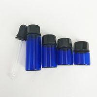 ingrosso bottiglietta di olio-1ml 2ml 3ml 5ml bottiglie di olio essenziale di profumo bottiglie di vetro con contagocce glassato vasetti di fiale con pipetta per cosmetici
