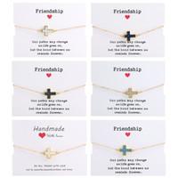 bracelets d'amitié pour femmes achat en gros de-Jésus Christian Femmes de la Croix-Charms Bracelets religieux Trendy chaîne Amitié Bracelet chanceux Bijoux Designer pour les filles 2020 Nouveau mode