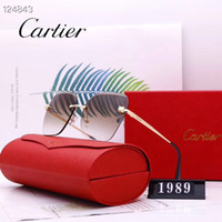 Wholesale pc gifts resale online - womens sunglasses Designer s lady luxury Sunglasses for woman Driving sun glasses high quality UV400 jb Cartier s gift
