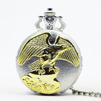 antika masa saatleri toptan satış-En Çok Satan Vintage Antik Altın Kartal Kanatları Gümüş Vaka Masa Erkekler Kadınlar için Cep Saatleri Kolye Kolye Hediye TD2025