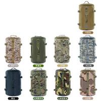 ingrosso drum sales-Outdoor Motion Zaino Camouflage Entrambe le tracolle Tattiche Borsa Drum Wrap Resistente all'usura Uomo Donna Vendite calde 40lp C1
