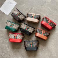 ingrosso fashion hangbags-Secchiello Hangbags Mini Borsa Kids Girl Stampa principessa Floral Singlet Shoulder Cross Striped Chain Fashion 14zd F1