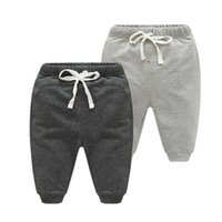 Wholesale kids boy panties resale online - 2017 Spring Baby Boy Pants Cotton Sport Baby Boys Clothing For Newborn m Infant Baby Elastic Waist Panties Kids Clothes Y190529