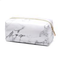 Wholesale travel teams resale online - Marbleizin Makeup Bag Brushes Storage Bag PU Marble Cosmetic Case Ladies Makeup Bag Sports Team Accessories Travel Bags