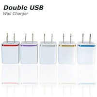 Wholesale cell phone wall chargers for sale – best High Quality V A Double US AC Travel USB Wall Charger for Samsung Galaxy HTC Cell Phones Adapter