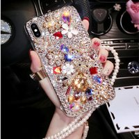 Wholesale galaxy perfume for sale - Group buy For iphoneXS XR MAX Glitter Rhinestone Diamond Pearl Phone case with perfume bottle Bear DIY Cover for samsung S10 S9 S8 plus NOTE8 note9