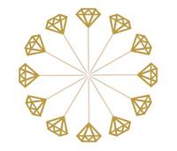 diamante casamento fontes venda por atacado-Toppers Do Queque Do Diamante Bolo De Casamento Topper Decoração Cerimônia De Casamento Festa de Aniversário fornecimento de Glitter Queque Toppers KKA7008