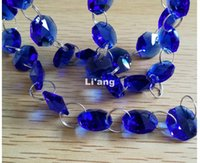 Wholesale crystal chains garland resale online - Dark Blue Color M mm Octagon Chain Wedding Party K9 Crystal Strand Garland Beads Decoration Chandelier Lamp DIY Home Decoration