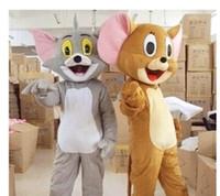 schöne rosa puppen groihandel-freies Verschiffen Tom Cat und Jerry-Mäusemaskottchen-Abendkleid-Ausstattungs Chirstmas Erwachsen-Größe Karikatur-Kostüm