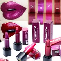 Wholesale mixing red purple lipstick resale online - Cmaadu Diamond Glitter Matte Lipstick Waterproof Shimmer Rose Red Lipstick Satin Metallic Color Long Lasting Makeup Purple Lip Stick