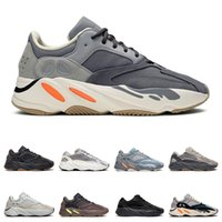 Wholesale magnet lighting resale online - New arrival men women running shoes kanye west Magnet Utility Black Wave Runner Inertia static trainers fashion sports sneakers