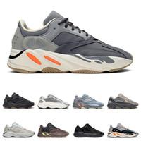 homens, correndo, sapatos, onda venda por atacado-yeezy 700 v2 boost  mens tênis de lona das mulheres preto branco vermelho YACHT CLUB Morango moda skate sapatos casuais tamanho 36-44