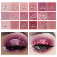 Wholesale eye shadow shimmer powder resale online - Miss Rose color Shimmer Matte Eyeshadow Palette Waterproof Smudge proof Eye Shadow Powder Hot Q1