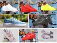 açık paten ayakkabıları toptan satış-2019new Erkekler Kadınlar Atletik Açık Vlone Ultra 1 Düşük Paten Sneakers Üçlü Siyah Beyaz Graffiti Eğitmenler Kaykay Ayakkabı 36-45