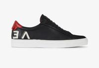 erkekler için markalı lastik ayakkabılar toptan satış-Lüks tasarım deri sneaker adam en iyi tasarımcı ayakkabı gerçek deri 4 renkler Kauçuk taban marka rahat indirim kadın moda ayakkabı satış 35-46