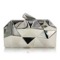 bankett handtaschen großhandel-2019 New Handgriff weiblichen Box Dinner Bag unregelmäßigen geometrischen Hand Bankettbeutel