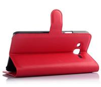 billetera flip galaxy s5 al por mayor-100 unids Litchi Wallet Flip PU funda de cuero cubierta bolsa con dinero bolsillo ranuras para tarjetas Soporte para iPhone8 Samsung Galaxy J1 J100 ACE J110 J3 S5