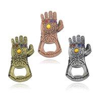 ingrosso chiave dell'automobile apri di bottiglia-Creativo multiuso Avengers 4 Infinity Thanos Guanto apribottiglie domestica Thanos Infinity chiave dell'automobile Ciondolo Portachiavi RRA1705