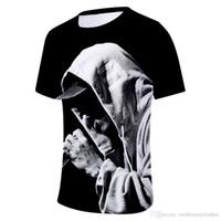 Wholesale eminem clothes for sale - Group buy Eminem D Printed Designer Tshirts Mens Clothing Summer Fashion O neck Short Sleeved Tops
